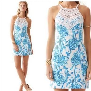 Lilly Pulitzer PEARL LACE NECK SHIFT DRESS Size 0